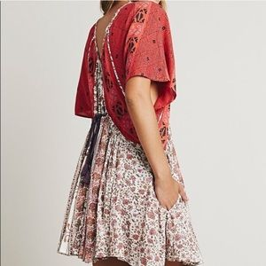 FREE PEOPLE Wild World Floral Boho Tunic Dress